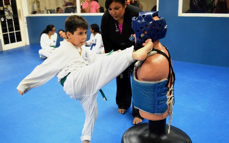 A escena el International Taekwondo Open Ineabelle Díaz